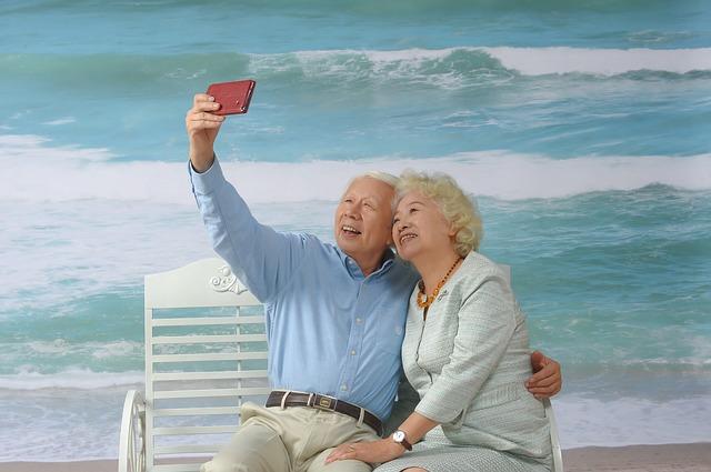 selfie seniorů