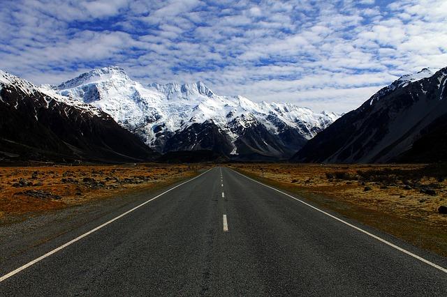 silnice na hory