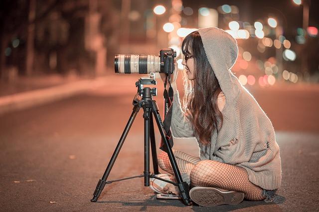 fotografka na silnici