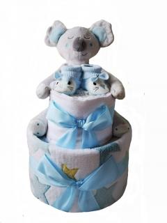 modrý plenkový dort koala