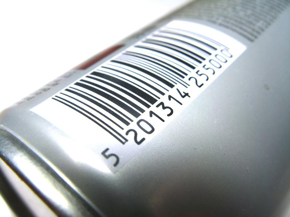 nalepený čárový kód